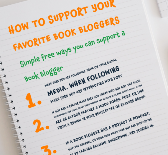 How to support your favorite Book Blogger